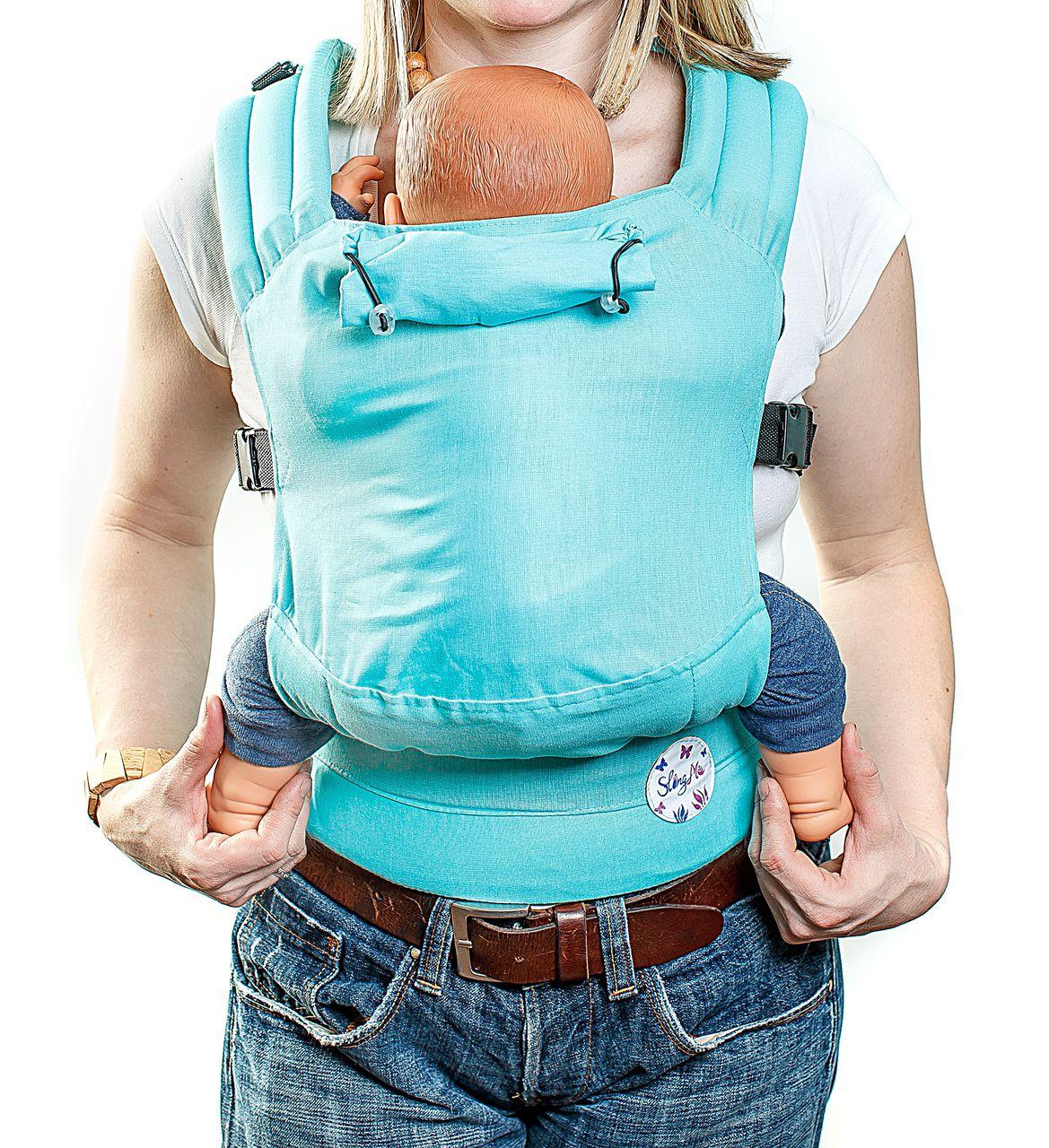 Купить Эргономичный рюкзак SlingMe Мята Комфорт, Рюкзак-кенгуру