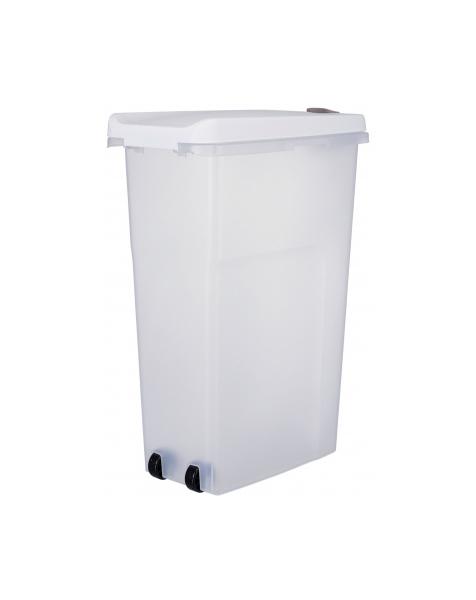 Контейнер для хранения корма TRIXIE, прозрачно-белый, с колесами, 27х61х46 см, на 40 л