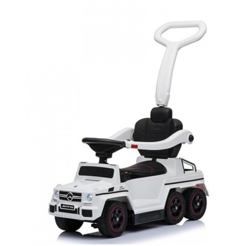Купить Толокар Rivertoys Mercedes-Benz A010AA-M шестиколесный белый, Каталки детские