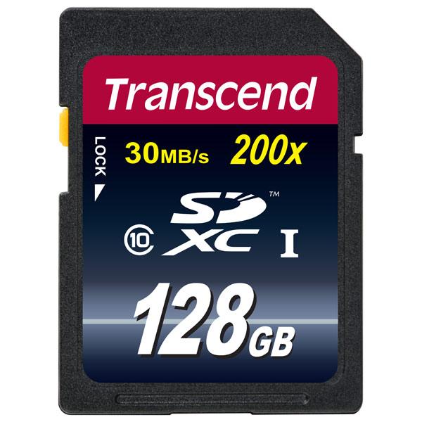 Карта памяти SDXC Transcend Ultimate TS128GSDXC10  - купить со скидкой