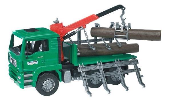 Купить Лесовоз Bruder MAN с портативным краном и брёвнами, Игрушечный транспорт Bruder