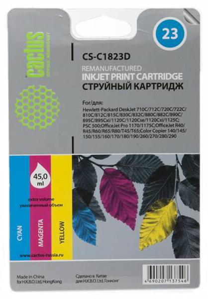 Картридж для струйного принтера Cactus CS-C1823D цветной