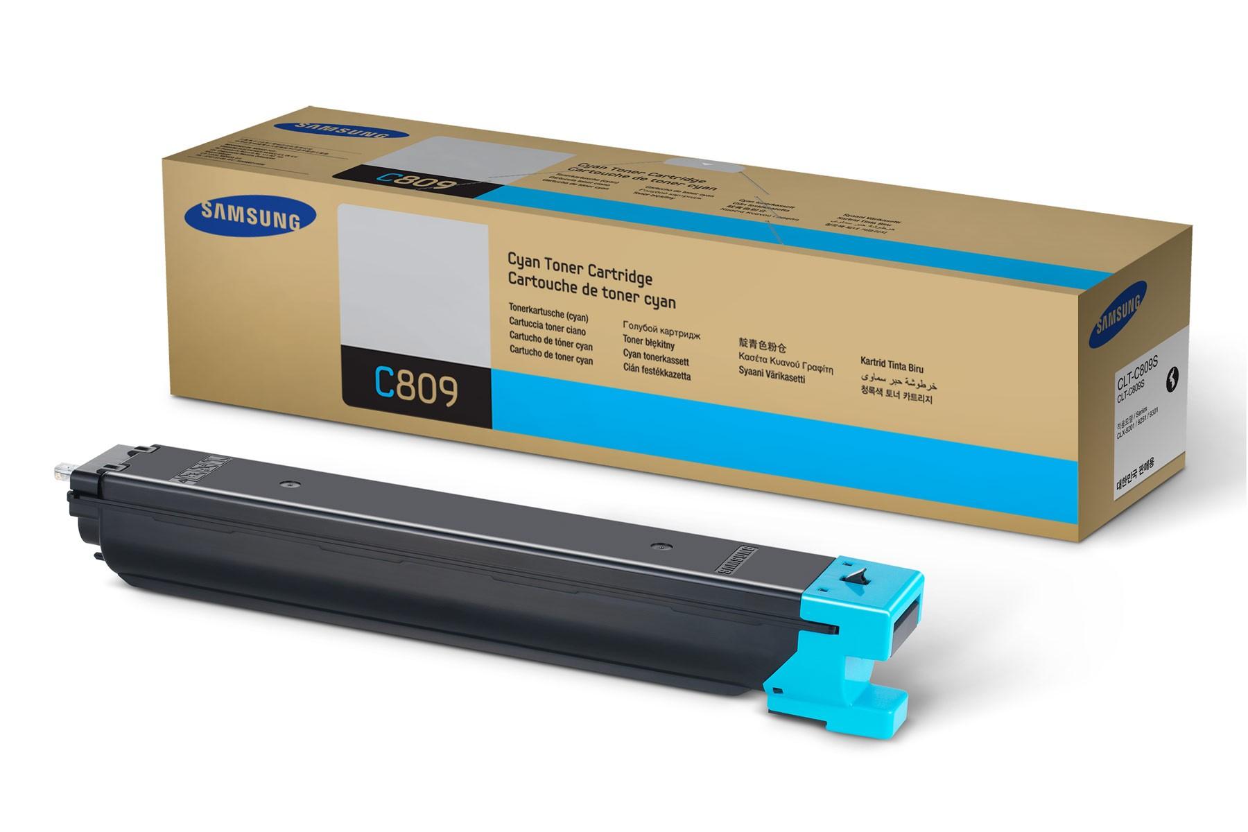 Картридж для лазерного принтера Samsung CLT-C809S, голубой, оригинал