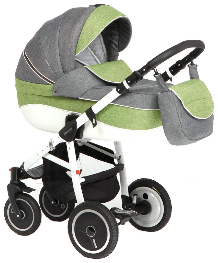 Купить Коляска 2 в 1 Adamex Neonex (серый, зеленый), Детские коляски 2 в 1