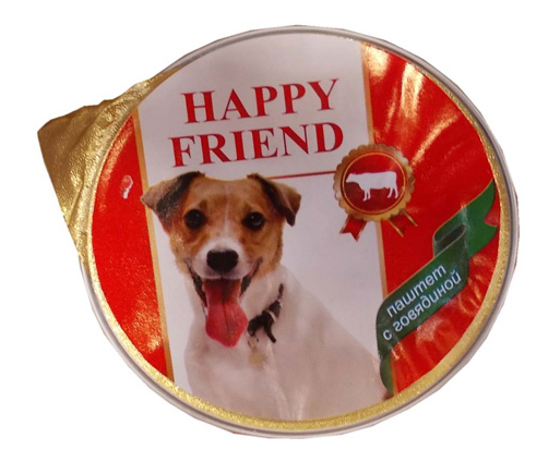 Консервы для собак HAPPY FRIEND говядина 125г.