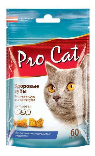 Лакомство для кошек Pro Cat Здоровые зубы