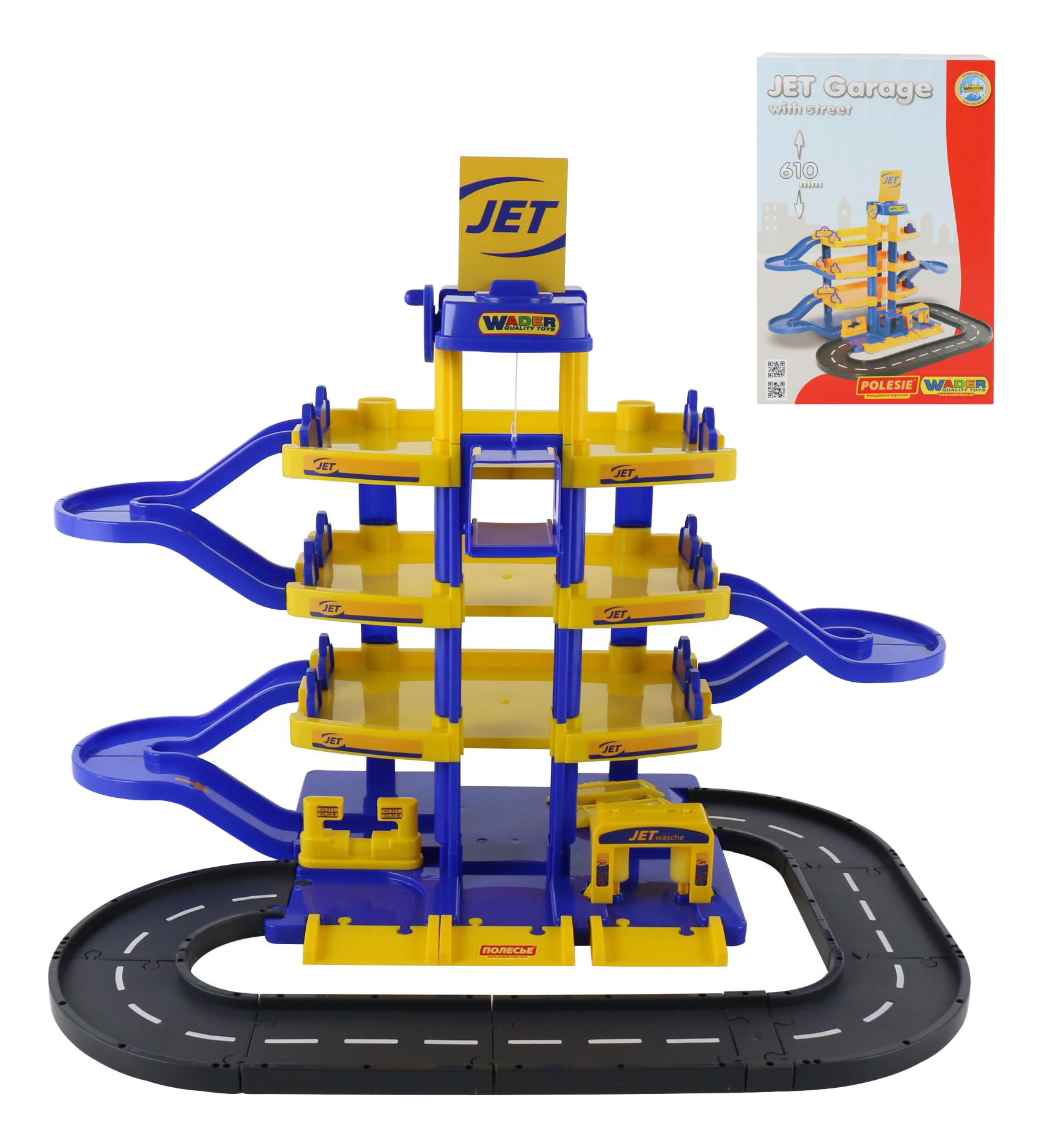 Купить Парковка игрушечная Wader JET 4-х уровневый с дорогой,