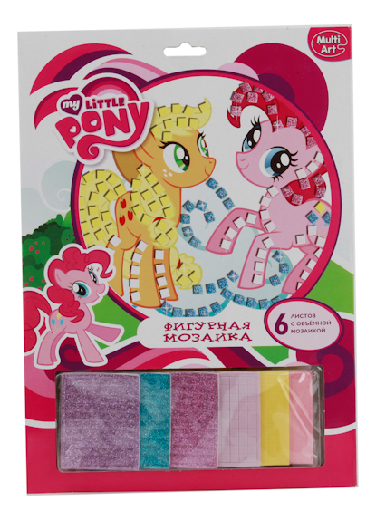 Купить Фигурная мозаика Multi Art My Little Pony Эпплджек и Пинки Пай 6 листов, Мозаики