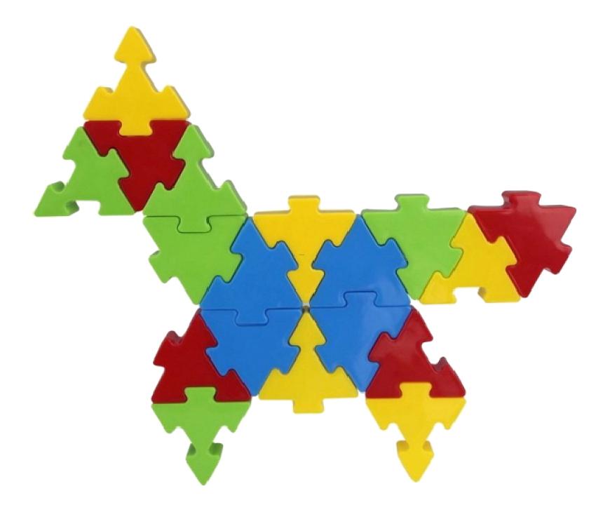 Купить Конструктор пластиковый Pilsan Funny Blocks 128 деталей, Конструкторы пластмассовые