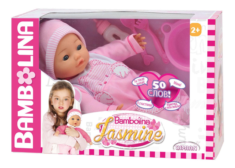 Пупс интерактивный Dimian Bambolina Jasmine BD358RU-M37 фото