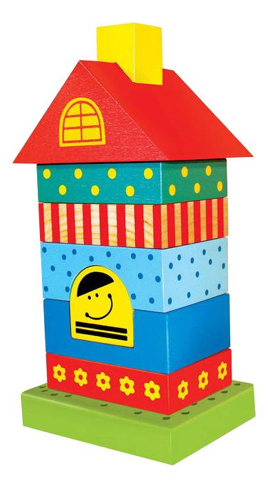 Купить Пирамидка деревянная Alatoys Домик ПДМ01, Алатойс, Пирамидки для детей