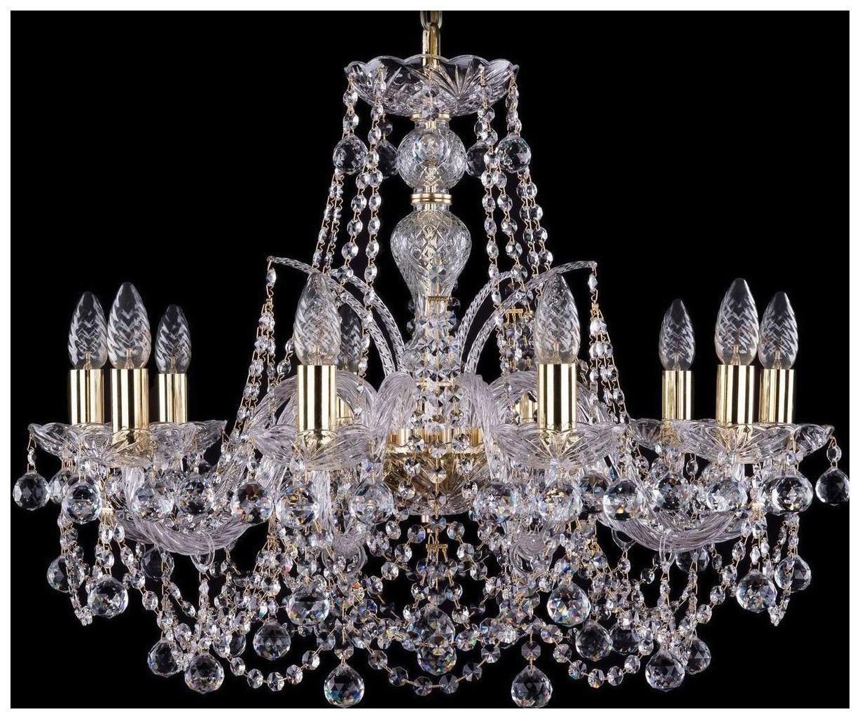 Люстра подвесная Bohemia Ivele Crystal 1411/10/240/G/Balls фото