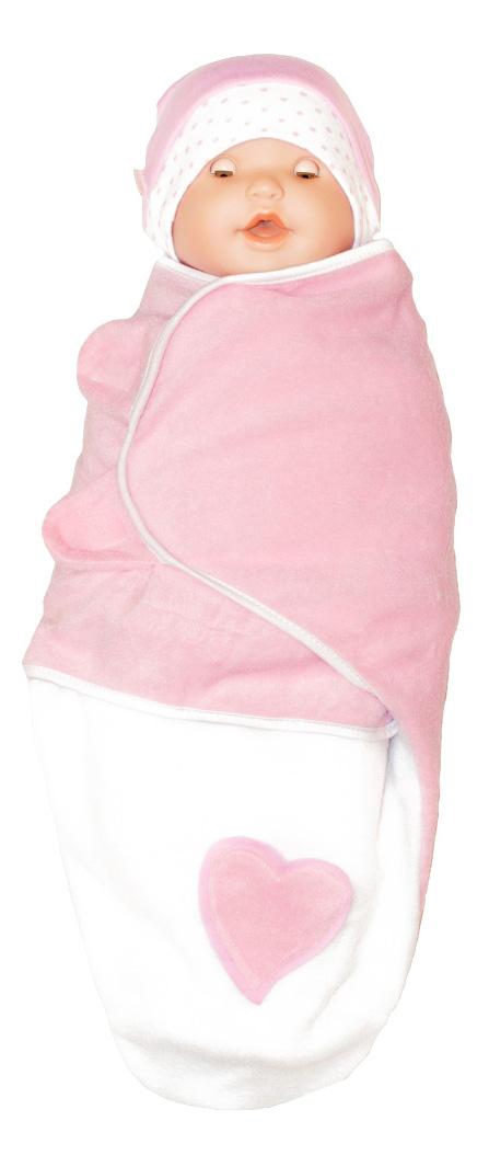 Конверт-мешок для детской коляски ВИТ индустрия Крошкин дом Кокон розовый