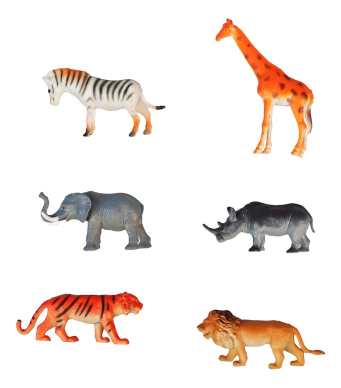 Купить В мире животных 6 шт., Игровой набор животных 1TOY В мире животных 6 шт., 1 TOY, Игровые наборы