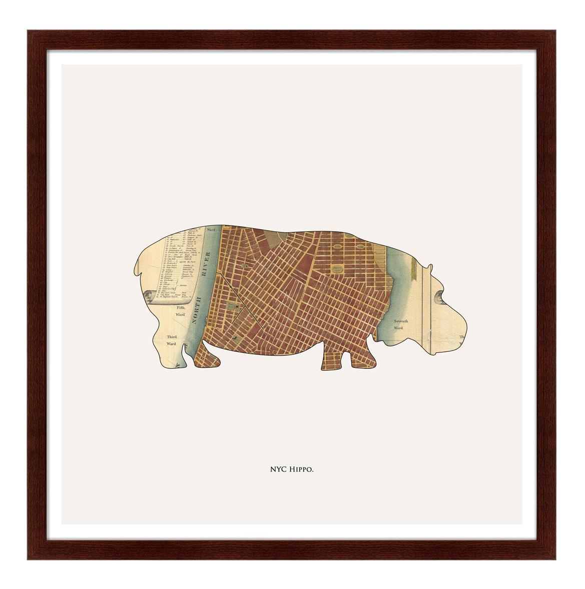 Картина Картины в Квартиру Hippo 79 х 79 см фото