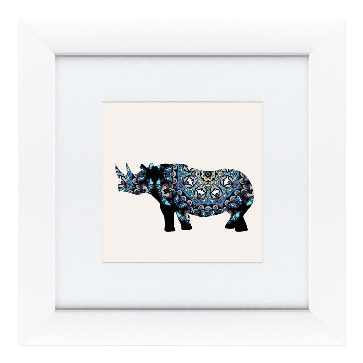Картина Картины в Квартиру Восточная яркость, носорог 35 х 35 см фото