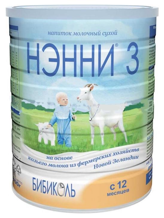 Смесь на основе козьего молока Бибколь Нэнни 3 от года 800 г
