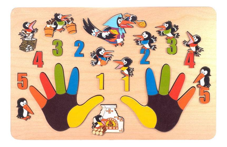 Деревянная игрушка для малышей ТД Бэмби Сорока-белобока фото