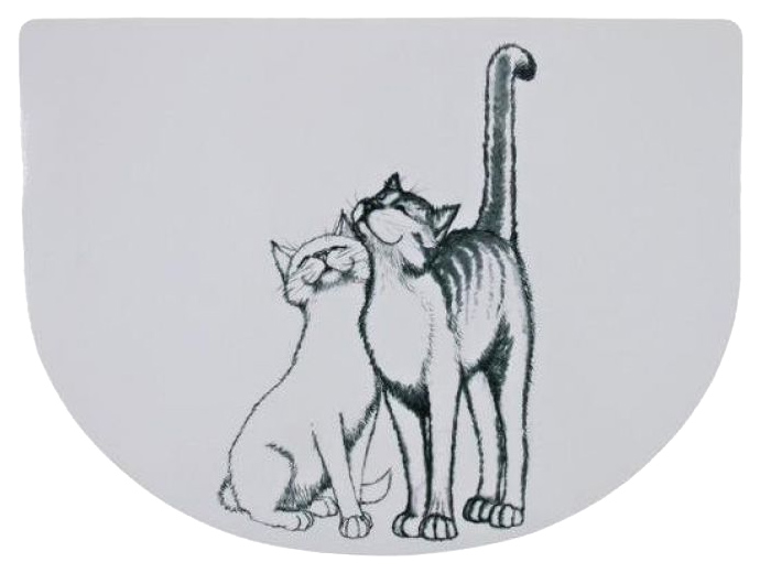 Коврик под миску для животных TRIXIE полукруглая