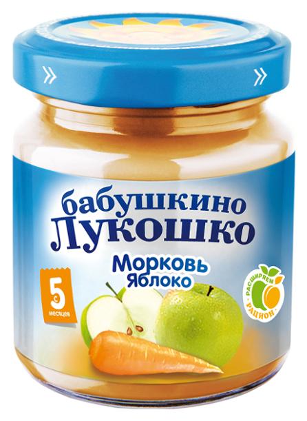 Пюре овощное Бабушкино Лукошко Морковь яблоко