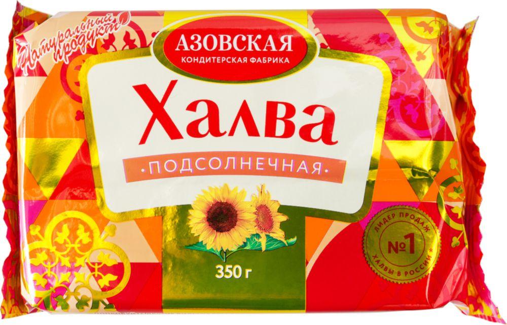 Халва подсолнечная Азовская кондитерская фабрика 350 г фото