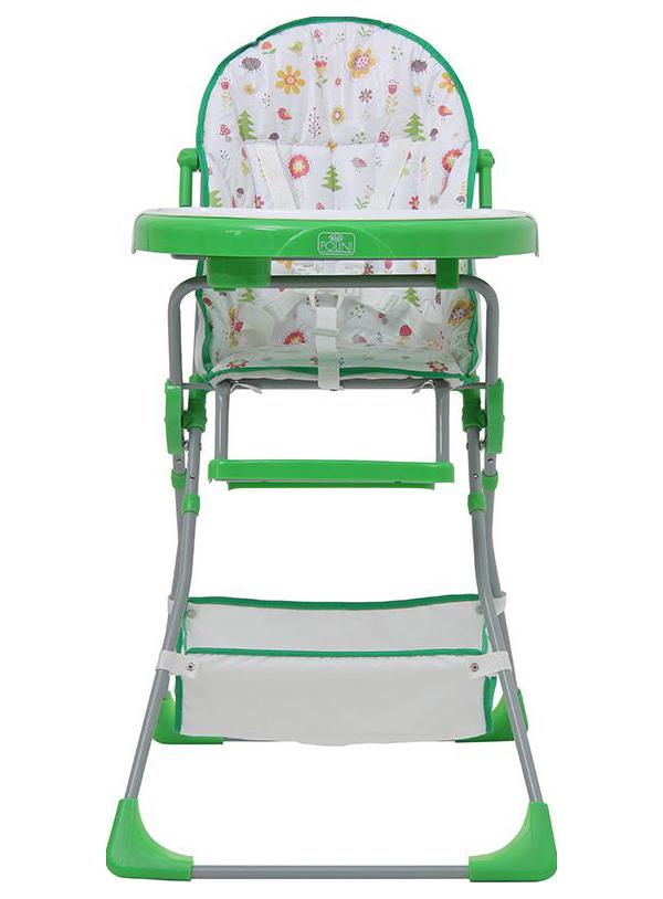 Стульчик для кормления Polini Kids 252 Лесные друзья, Зеленый