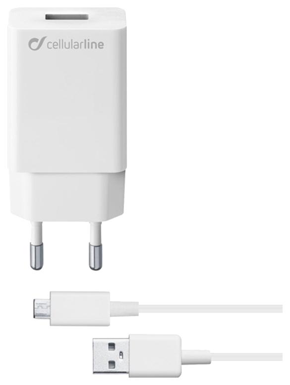 Сетевое зарядное устройство Cellular Line 10W MICRO USB SAMSUNG White 10W MICRO USB SAMSUNG Белый