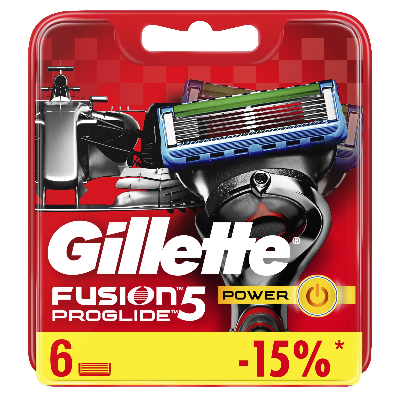 Сменные кассеты Gillette Fusion5 ProGlide Power 6 шт