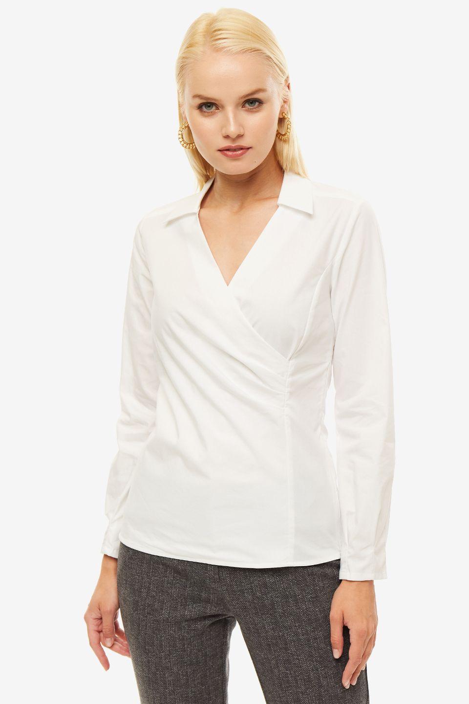 Блуза женская MORE & MORE белая фото