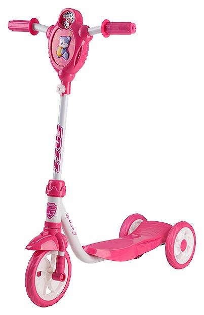 Купить Самокат городской Foxx Baby с пластиковой платформой и EVA колесами 115мм, белый #127650,