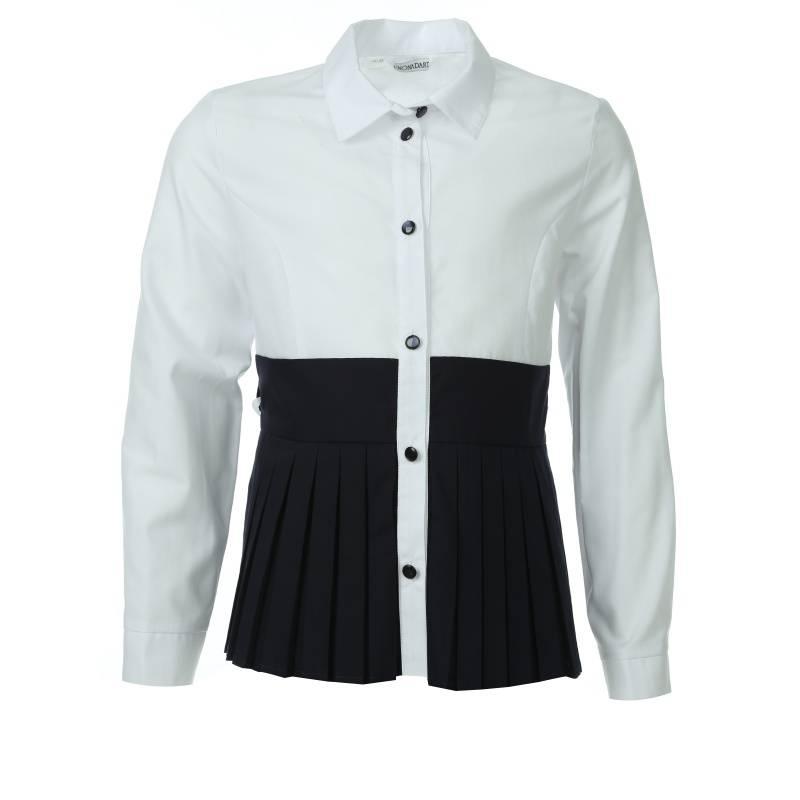 Купить 683, Блузка UNONA D'ART, цв. белый, 134 р-р, Детские блузки, рубашки, туники