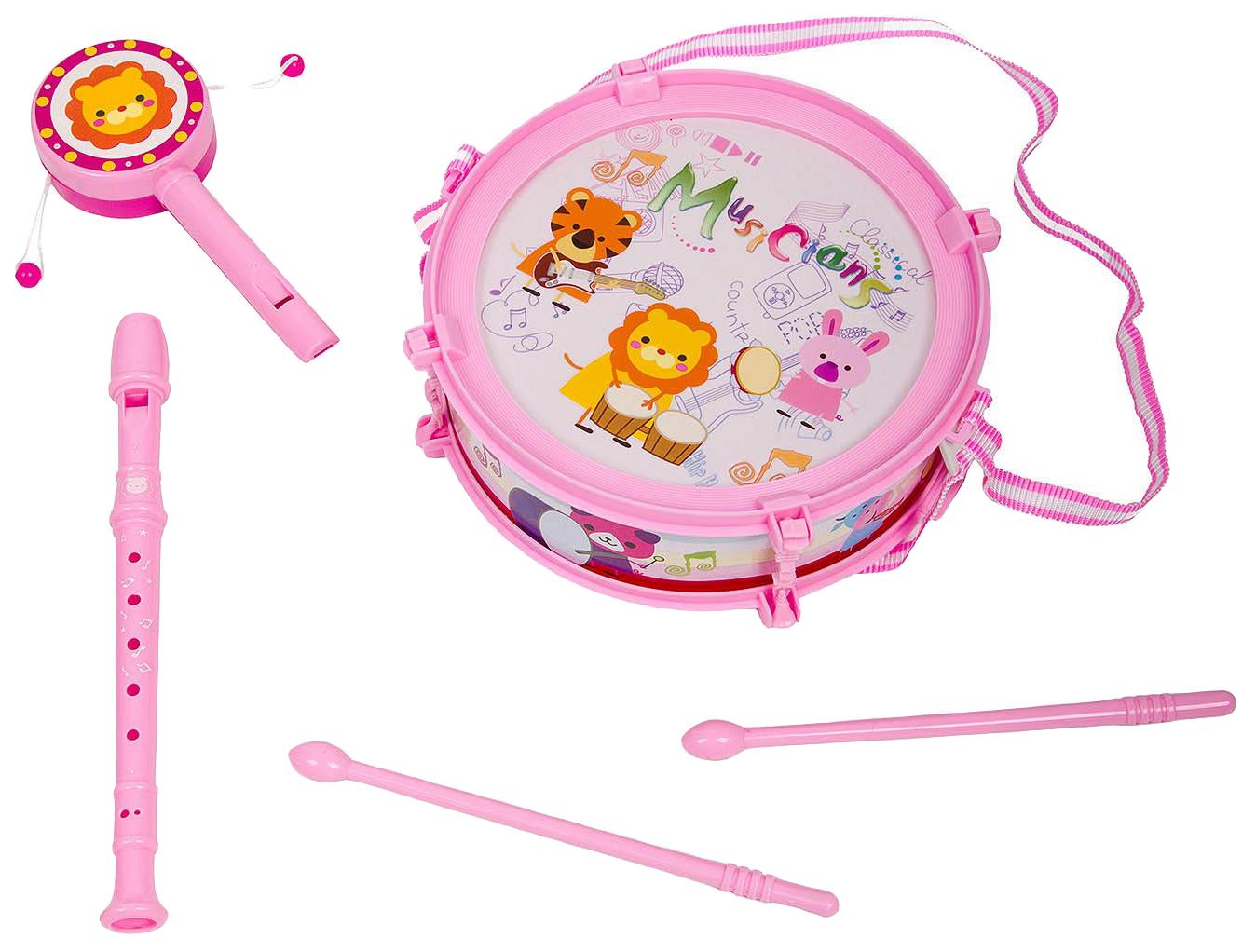 Купить Набор музык. инструментов 5 предметов, серия Моей малышке, PAC 24х26 см, арт.M7663-2., Yako Toys, Детские музыкальные инструменты