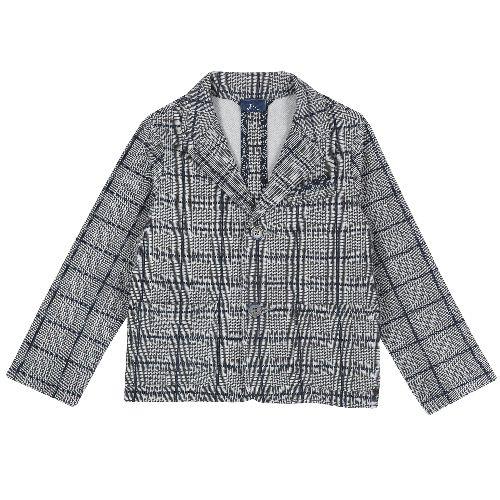 Купить 9084343, Пиджак Chicco для мальчиков р.128 цв.серый,