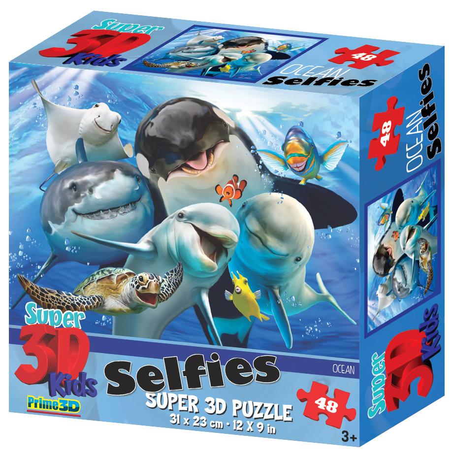 Купить Prime 3d Стерео пазл PRIME 3D 13541 Океанское селфи, 3D пазлы