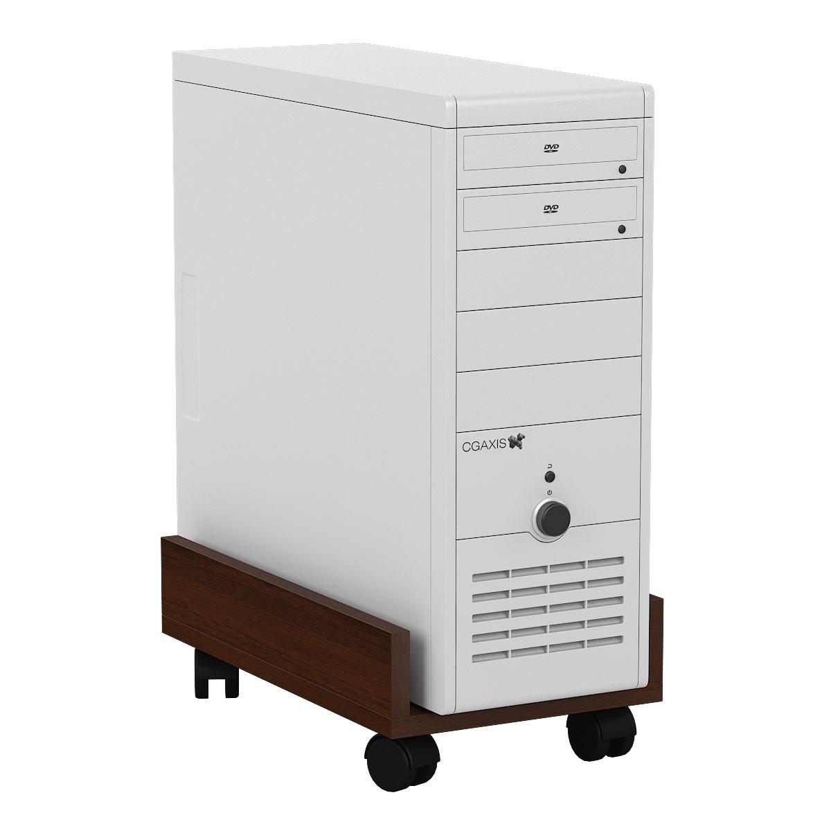 Подставка под системный блок Мебельный Двор 4-02 орех 27х45х15 фото