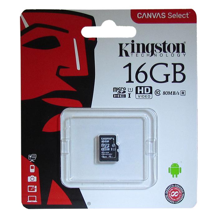 Карта памяти Kingston SDCS 16GB, SDCS/16GBSP  - купить со скидкой