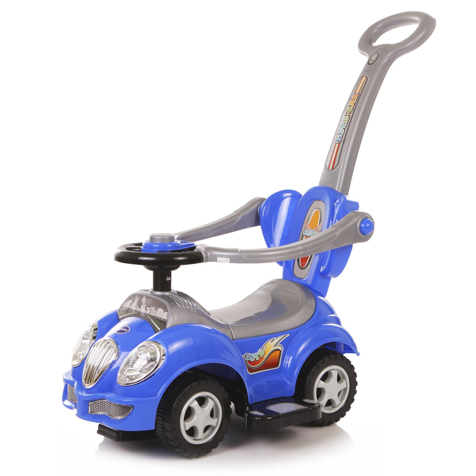 Купить Cute Car (резиновые колёса, музыкальный руль), Каталка детская Baby Care Cute Car резиновые колеса, музыкальный руль, Машинки каталки