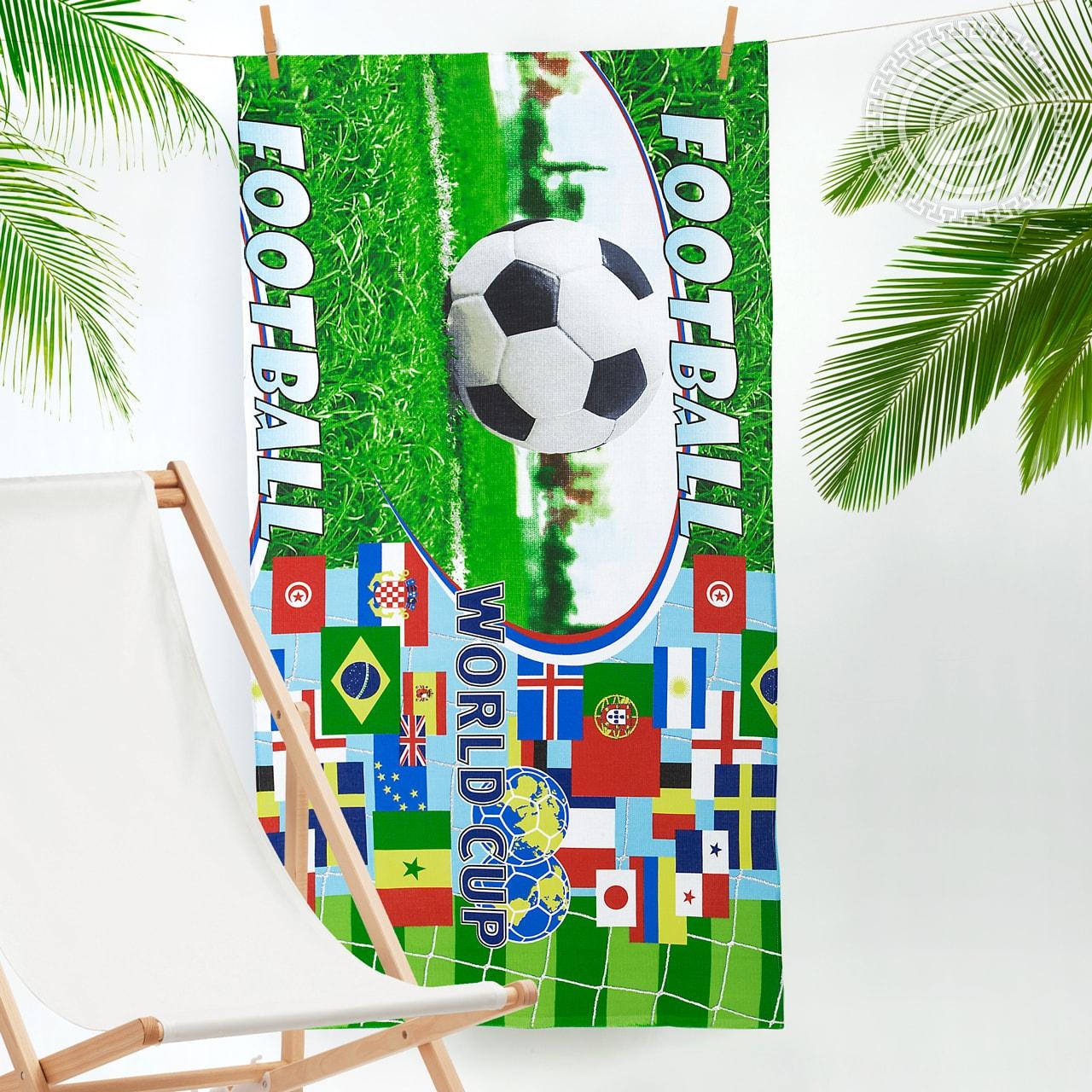 Банное полотенце АРТ ДИЗАЙН Спорт разноцветный 80x150