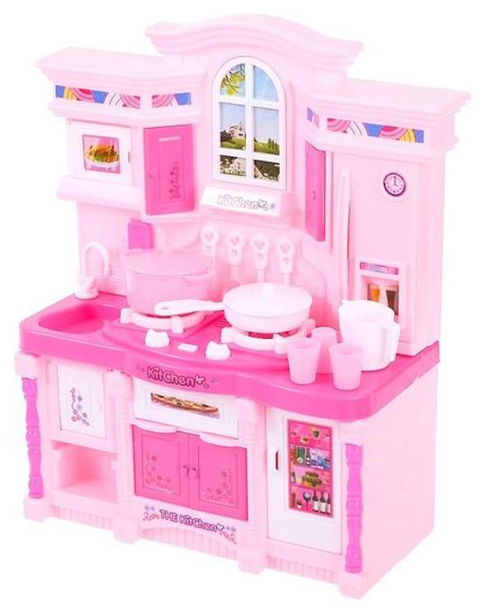 Купить Игровой набор Sima-land стильная кухня, розовая, световые и звуковые эффекты, Детская кухня