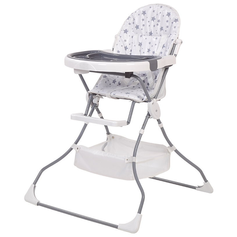 Стульчик для кормления Polini kids 252 Звезды белый/серый