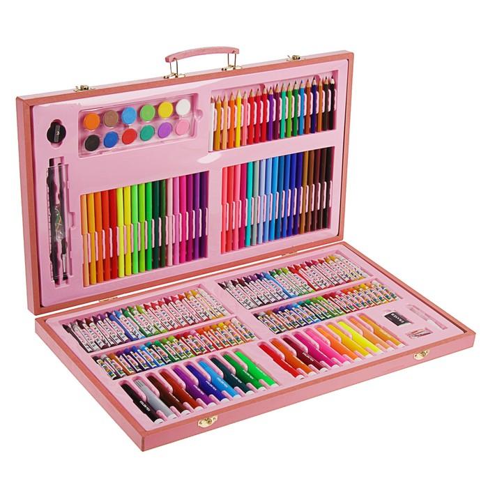 Набор для рисования Sima-Land розовая коробка