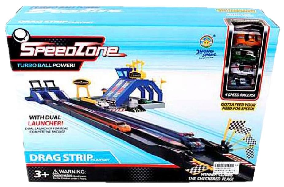 Купить Автотрек Супер скорость, машина 4 шт. AF1023 Наша игрушка, Детские автотреки