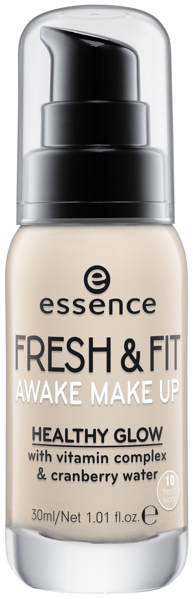 Тональный крем Essence Fresh #and# Fit Awake Make Up 10 Fresh Ivory 30 мл