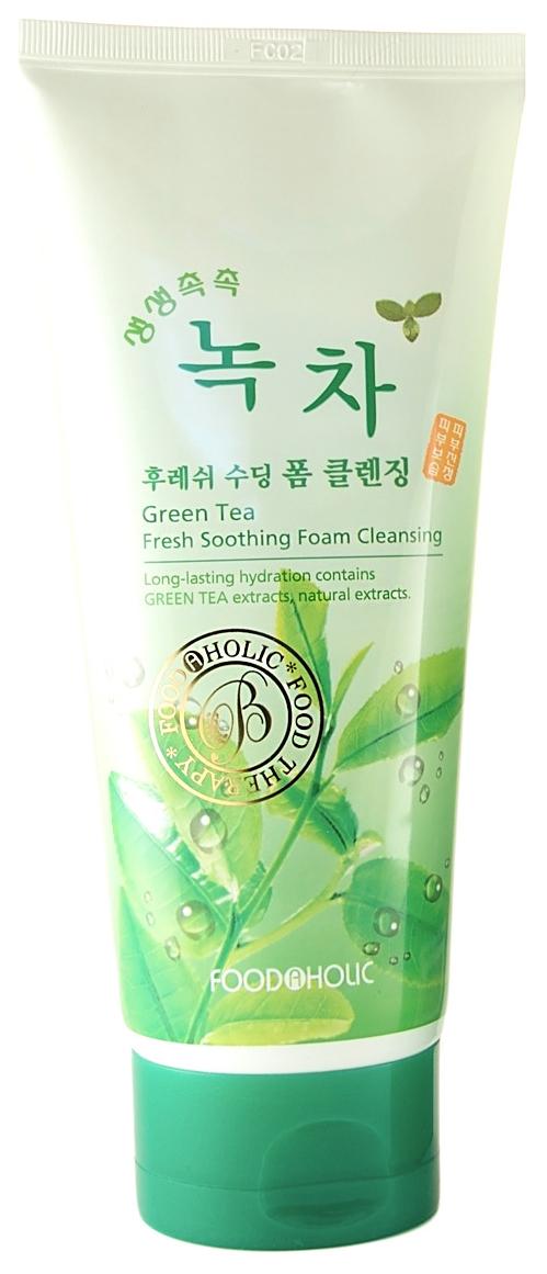 Очищающая пенка FoodaHolic Green Tea Fresh Soothing