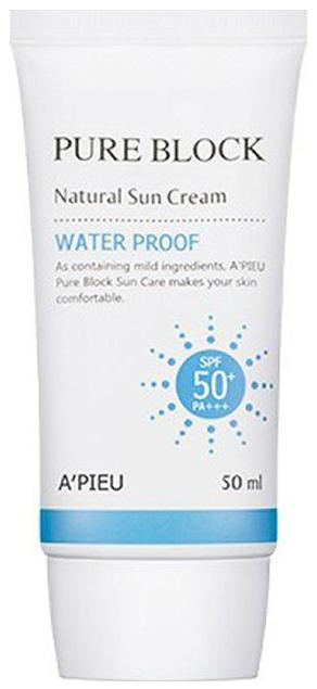 Солнцезащитное средство A\'pieu Pure Block Natural Waterproof Sun Cream SPF50+ 50 мл