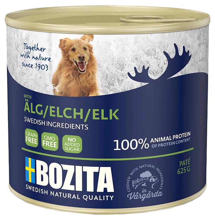 Консервы для собак BOZITA, лось, 625г