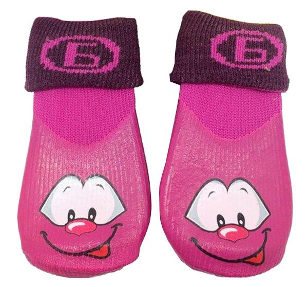 Носки для собак БАРБОСки размер M 4 шт фиолетовый.