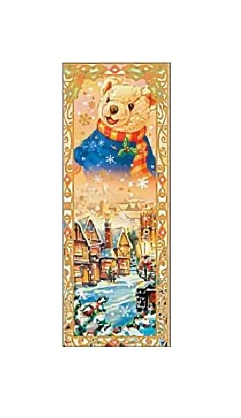 Купить Наклейка декоративная на стекло Marko Ferenzo Новый год Мишка, Аксессуары для детской комнаты