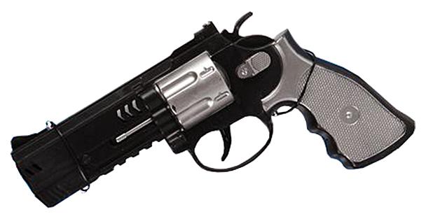 Огнестрельное игрушечное оружие Shenzhen Toys Револьвер серебристо-черный