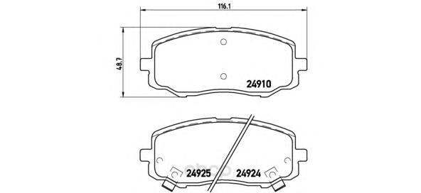 Тормозные колодки дисковые brembo P30045